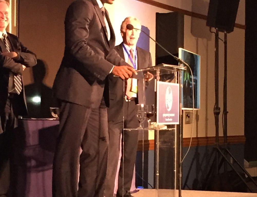 Congrats to Omari Faulkner on Receiving GU Service Award